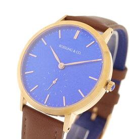 ROSSLING ロスリング 腕時計 メンズ レディース RO-003-002 クォーツ ブルー ブラウン【送料無料】
