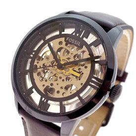 フォッシル FOSSIL 腕時計 メンズ レディース ME3098 タウンズマン Townsman 自動巻き ブラック スケルトン ブラウン【送料無料】