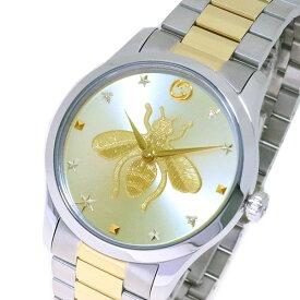 グッチ GUCCI 腕時計 メンズ YA1264131 Gタイムレス クォーツ ゴールド ゴールド シルバー【送料無料】