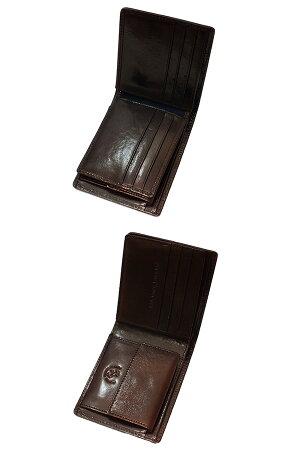 アーノルドパーマーARNOLDPALMER二つ折りメンズ短財布4AP3093-CCチョコ【楽ギフ_包装】