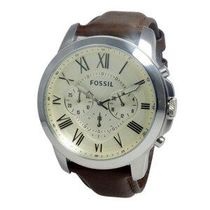 フォッシルFOSSILグラントクオーツメンズクロノ腕時計FS4735アイボリー【送料無料】【楽ギフ_包装】