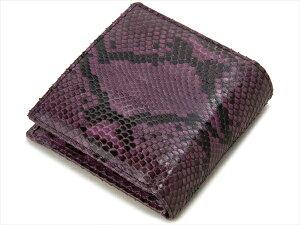 RODANIAロダニアパイソンヘビ革二つ折り財布ダイヤモンドパイソンバイオレットメンズ財布【送料無料】【smtb-f】