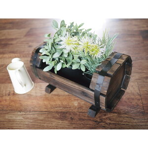 木製プランターカバー樽型 台所 日用品 収納 DIY用品 園芸用品 HA-320(代引不可)