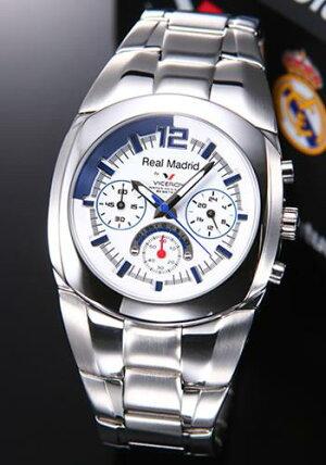 バーセロイ腕時計レアルマドリード公式ウオッチメンズクロノグラフSSブレスクォーツ43821-05