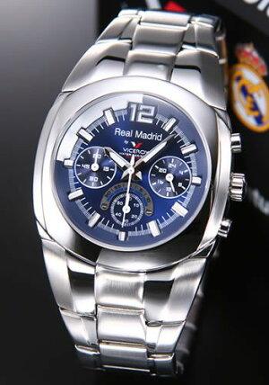 バーセロイ腕時計レアルマドリード公式ウオッチメンズクロノグラフSSブレスクォーツ43821-35