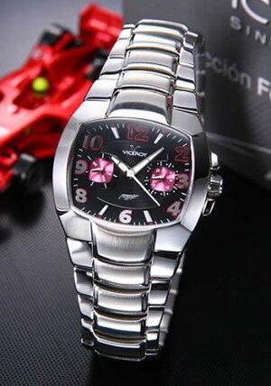 バーセロイ腕時計F1レーサ「フェルナンド・アロンソ」モデルレディスマルチファンクションSSブレスクォーツ432018-95