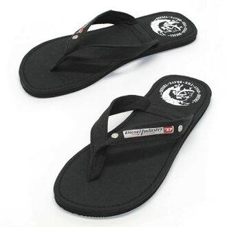 柴油AQUALIFE Seaside人棉布涼鞋Beach sandal黑色≪2014SS≫00Y753 PR012 T8013 Black
