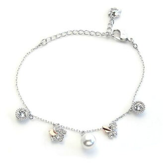 施華洛世奇Cute Bracelet蝴蝶/花/珍珠/水晶水晶·pavechamuburesuretto 5112138