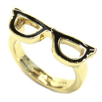 凯特黑桃WBRU5715-064/7 GORESKI GLASSES Ring眼镜动机环戒指尺寸7(日本尺寸13.5号)