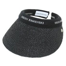 ヘレンカミンスキー HELEN KAMINSKI Bianca/Charcoal/Black Logo ビアンカ UPF50+ クリップ サンバイザー ラフィア製ハット レディス帽子【送料無料】