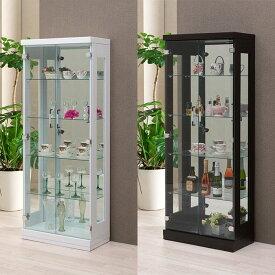 フォース60 コレクションラック 幅60cm×奥行30cm×高さ150cm コレクションケース コレクションボード 飾り棚 ガラス棚 ショーケース(代引不可)