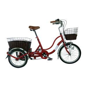 三輪自転車 ノーパンクタイヤ スイングチャーリー SWING CHARLIE 911 ノーパンク ワインレッド 自転車 サイクリング MG-TRW20NG(代引不可)【送料無料】