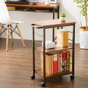ワゴン 可動式 マルチワゴン サイドテーブル キャスター ラック 収納 可動棚 5段階 キッチンワゴン オフィス キッチン…