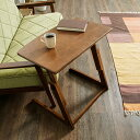 昇降式 サイドテーブル 高さ調節 昇降式 ベッドサイドテーブル パソコンデスク カフェテーブル 木製 ブラウン コンパ…