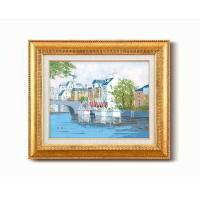黒沢 久油絵額F6金 「運河の風景」 1110340(代引き不可)
