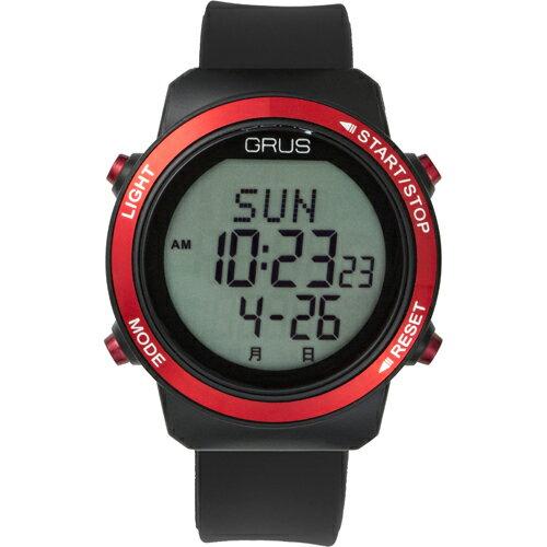 GRUS 腕時計 歩幅計測 ウォーキングウォッチ GRS001-01(代引不可)【送料無料】【S1】