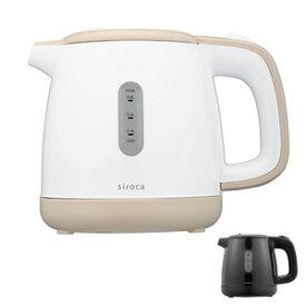 siroca シロカ 0.8リットル 湯こぼれしづらい電気ケトル SEK-208 800ml 水位窓付き 湯沸かし器
