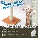 猫の爪とぎ ポール型 高さ約60cm NT3013ブラウン【送料無料】
