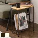 サイドテーブル 幅40cm 高さ50cm ナイトテーブル アイアン 木製 机 つくえ 小さいテーブル 小型テーブル おしゃれ 収納 ラック(代引不可)【送料無料】