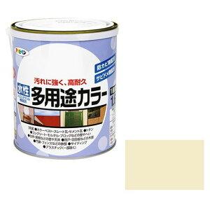 アサヒペン 水性多用途カラー 1.6L-アイボリー