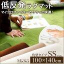 (100×140cm)低反発マイクロファイバーラグマット【Mochica-モチカ-(SSサイズ)】(代引き不可)