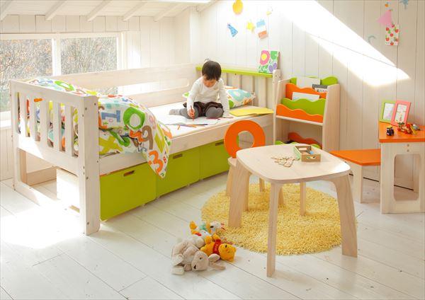 【子供家具】【Kids キッズ】 E-koシングルベッド EKB-00040(代引不可)【送料無料】