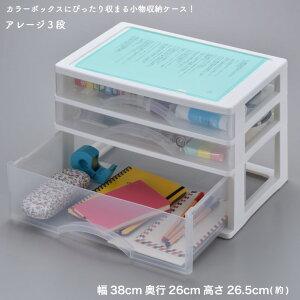 収納ケース カラーボックスにピタッと収まる アレージ3段 A4サイズ収納 プラスチックケース レターケース 引き出し クリア 透明(代引不可)【送料無料】