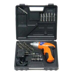 充電式 電動ドライバー 工具42個セット コードレス LEDライト 1ボックス収納 大工 DIY(代引不可)【送料無料】