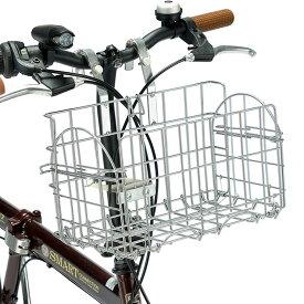 折畳サイクルバスケット シルバー MP-BK05 自転車 かご カゴ バスケット 折りたたみ 後付バスケット 簡単着脱【送料無料】