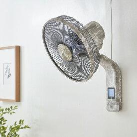 扇風機 壁掛け DC扇風機 大理石調 30cm リモコン式 8の字首振り 立体首振り 5枚羽根 風量8段階 タイマー機能付 リビング扇風機【送料無料】