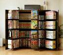 DVDで最大400収納 書棚ストッカー ダークブラウン (日本製)(FM70DBR)(代引き不可)【送料無料】