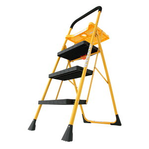 脚立 はしご 梯子 踏み台 ステップ 折りたたみ 折り畳み トレー付き 折りたたみ脚立 3段 コンパクト 収納 洗車 大掃除 DIY(代引不可)【送料無料】