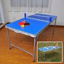 折りたたみファミリーピンポン台セット ピンポン台 卓球台 セット 折りたたみ式(代引不可)【送料無料】