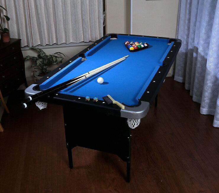 家庭用ビリヤード&卓球テーブル キューやボール、卓球セット付! ビリヤード台 卓球台 家庭用 セット お遊びセット(代引不可)【送料無料】