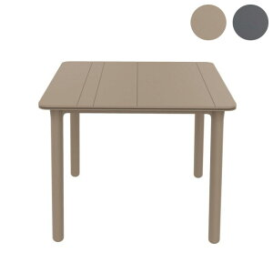 RESOL(レソル) ガーデンテーブル 90×90cm NOAテーブル スペイン 樹脂製 ガーデン テーブル テラス ガーデンファニチャー ガーデン家具(代引不可)【送料無料】