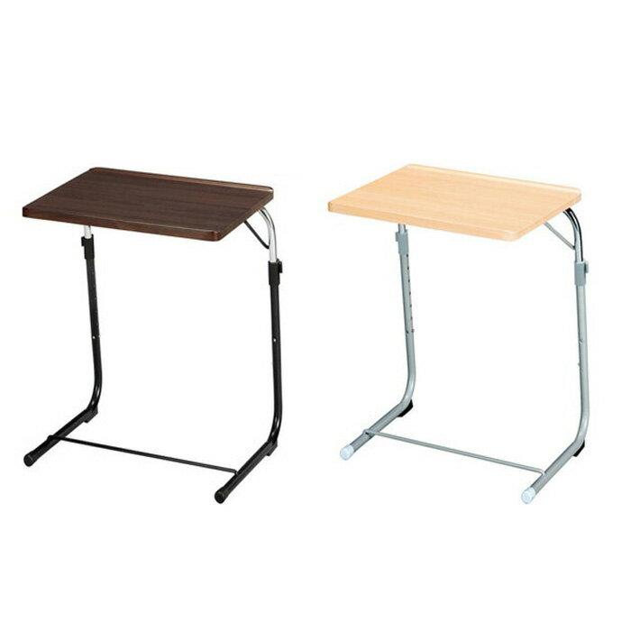 サイドテーブル 折りたたみ テーブル 高さ調節 昇降式 アンティーク フォールディングテーブル [フォールディングサイドテーブル Pange パンジュ] ブラウン ナチュラル FLS-1(代引き不可)【送料無料】