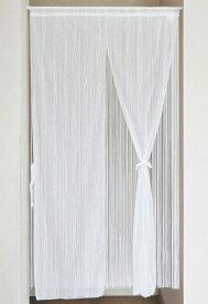 のれん 85cm×170cm ハイゲージレース 二重のれん 目隠し 暖簾 リボン付き 日本製 国産 和風 洋風 シック エレガント 間仕切り(代引不可)