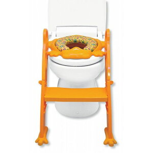 リトルプリンセスLittlePrincessかえるのふかふかステップ式トイレトレーナーイエロー