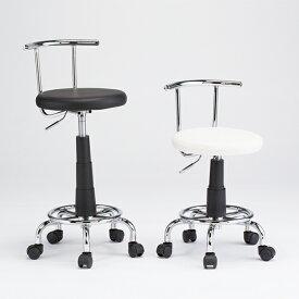 小回りカウンターチェア カウンターチェア キャスター付き バーチェア ハイチェア キッチンチェア 背もたれ付き 回転椅子(代引不可)【送料無料】