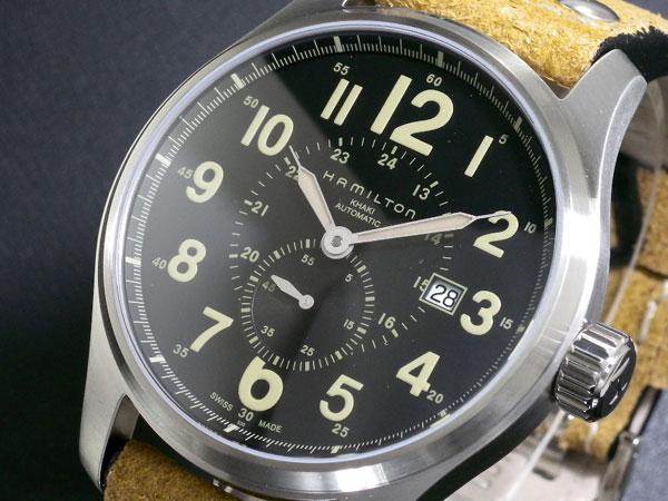 HAMILTON ハミルトン カーキ オフィサー オート 腕時計 時計 H70655733【楽ギフ_包装】H2【送料無料】