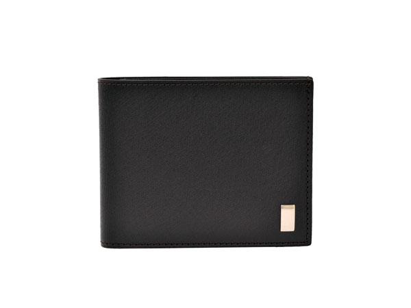 ダンヒル DUNHILL SIDECAR 二つ折り 短財布 FP3070E-BLK ブラック【楽ギフ_包装】