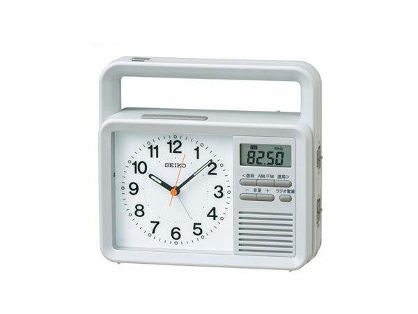 セイコー SEIKO 目覚まし時計 充電つき防災クロック KR885N【楽ギフ_包装】