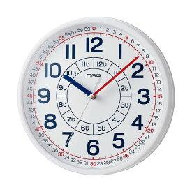 ノア精密 掛け時計 ホワイト 知育時計 よ~める W-736 おうちのかたへのアドバイスシート入り WH-Z