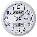 ノア精密 ダブルリンク MAG 電波掛け時計 W-711 WH 温湿度計付き 電波時計【送料無料】