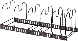 アネスティ・カンパニー コンロ下 シンク下 フライパン・鍋・ふたラック 伸縮タイプ 33〜57cm HO1683 収納