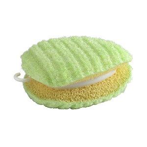 ベストコ びっくり 園芸用 作業着洗い 洗濯クリーナー スポンジ 汚れ落とし 日本製 グリーン 10×7.5cm MA-2612