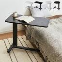 ガス圧 昇降式マルチテーブル 高さ67~97cm キャスター付き ラウンド スクエア テーブル サイドテーブル ベッドサイド…