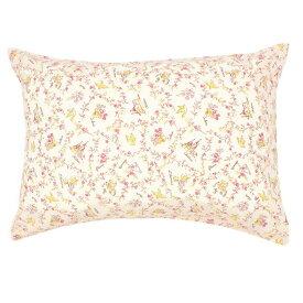 メリーナイト 綿100% メルヘン柄の枕カバー 43×63cmまくら用 ピンク サックス カバー 枕 まくら まくらカバー