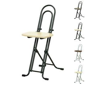 ベストホビーチェア 高さ調整式 折りたたみチェア 日本製 パイプ椅子 補助椅子 ワーキングチェア(代引不可)【送料無料】