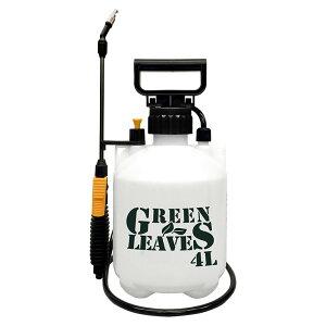 ガーデンスプレー 除草剤専用 噴霧器 蓄圧式 4L 二頭口 グリーンリーブス 広範囲散布 軽量 除草 消毒 散布 ガーデニング 畑 庭(代引不可)【送料無料】